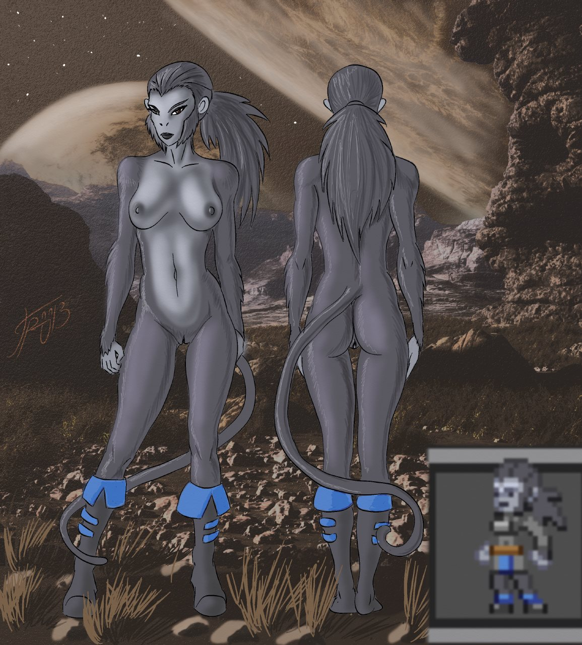 Alien Nude Girls rule 34 - alien anthro apex breasts female grey skin grriva