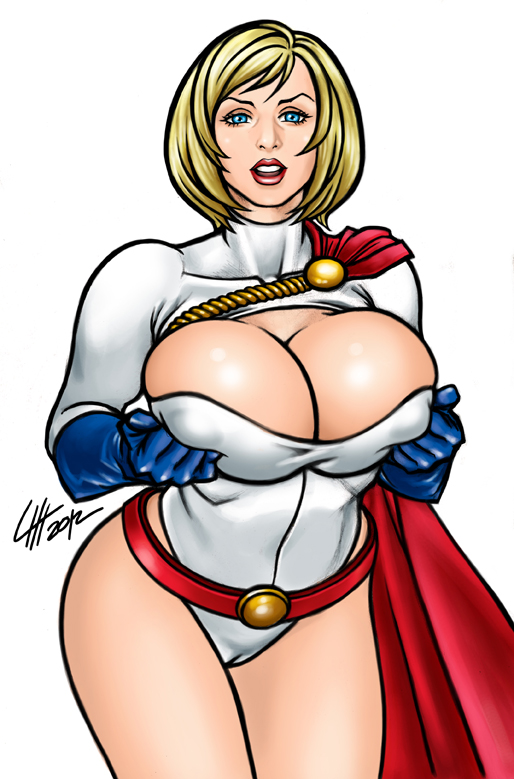 Power girl naked with big tits