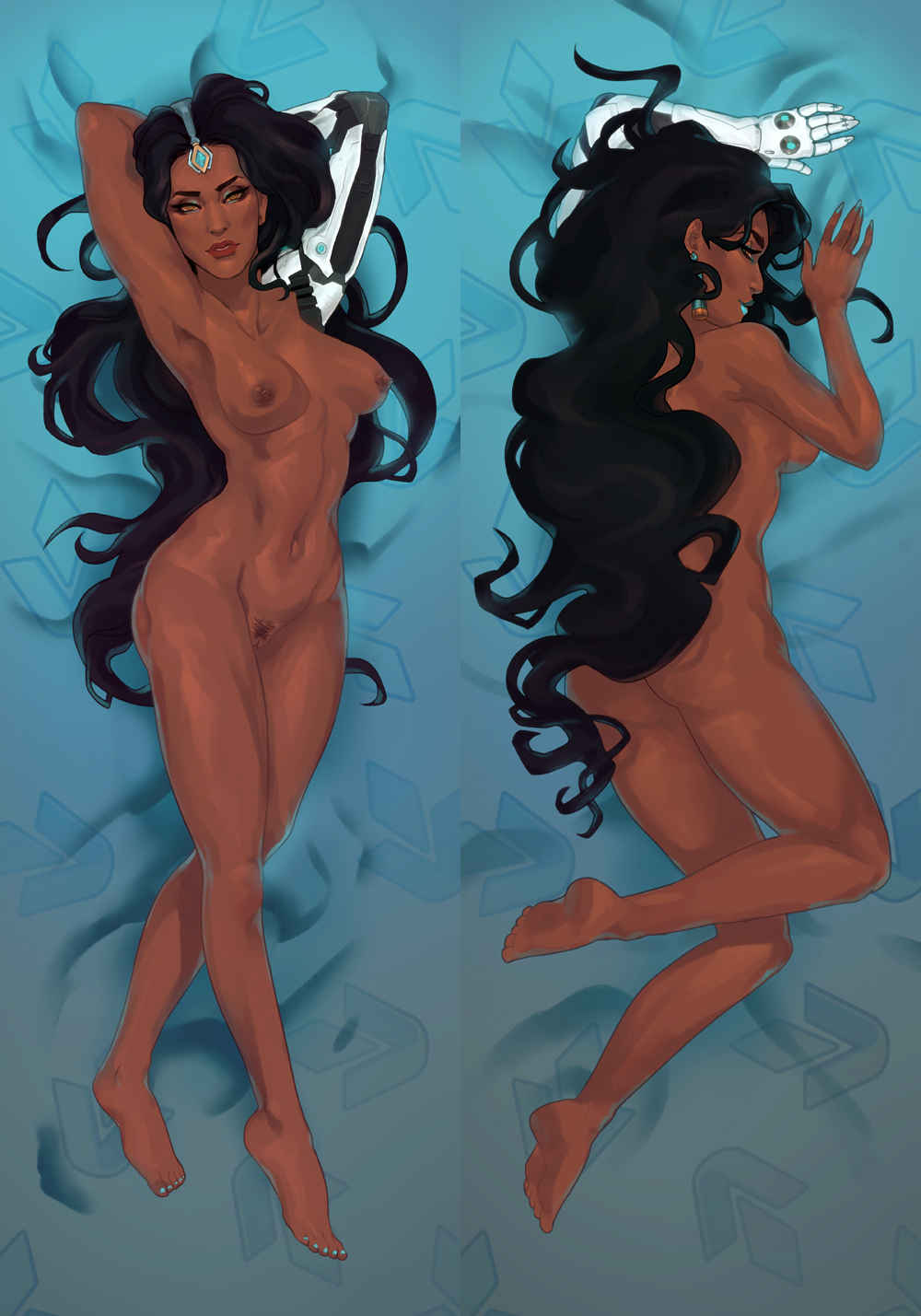 asieybarbie ass breasts dark-skinned_female dark_skin female indian nude overwatch symmetra