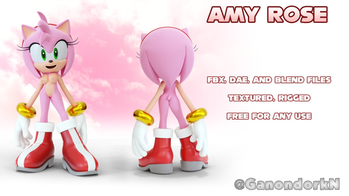 Rule D D Model Amy Rose Anthro Breasts Clothed