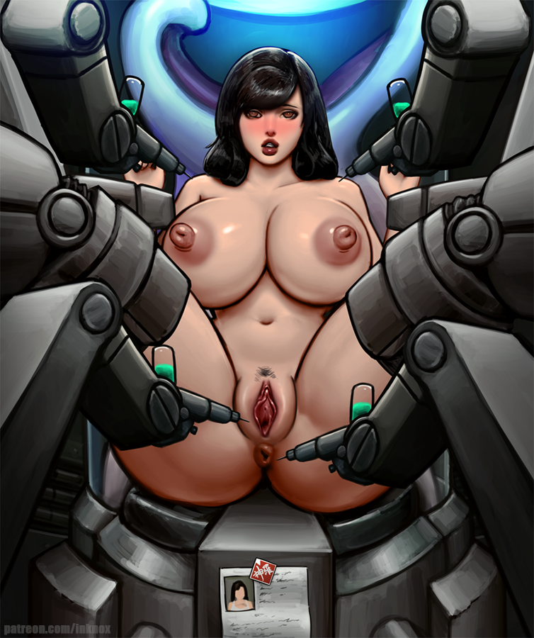 1girls anus areolae big_breasts black_hair breasts experiment female female_only final_fantasy final_fantasy_vii hair inknox large_breasts long_hair machine nipples nude pussy solo square_enix tifa_lockhart video_games