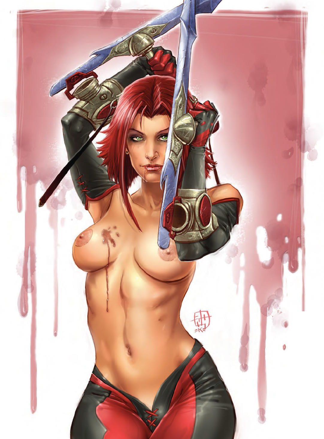 Bloodrayne Topless rule 34 - 1girls 2001 areola areolae artist request bare