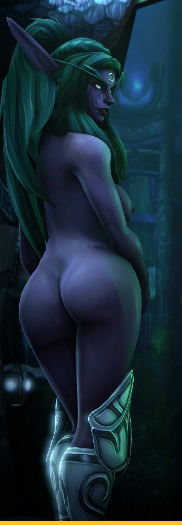 ass breasts butt elf night night_elf tyrande_whisperwind warcraft world_of_warcraft