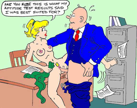 Old man and office sex comics