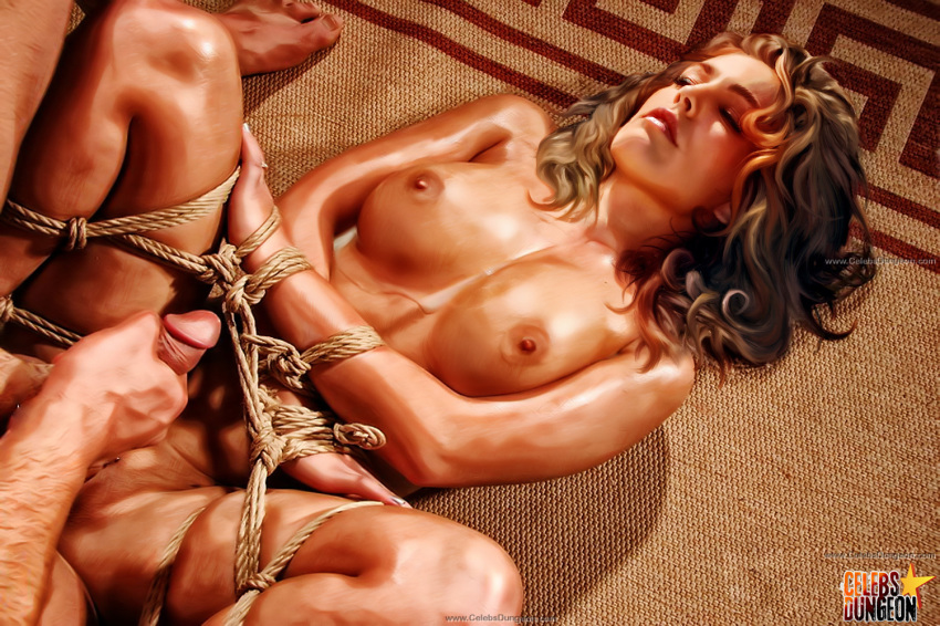 after_rape after_sex bondage breasts brown_hair celebrity celebs_dungeon  color cum cum_on_breasts forced kelly_brook nude rape sex straight
