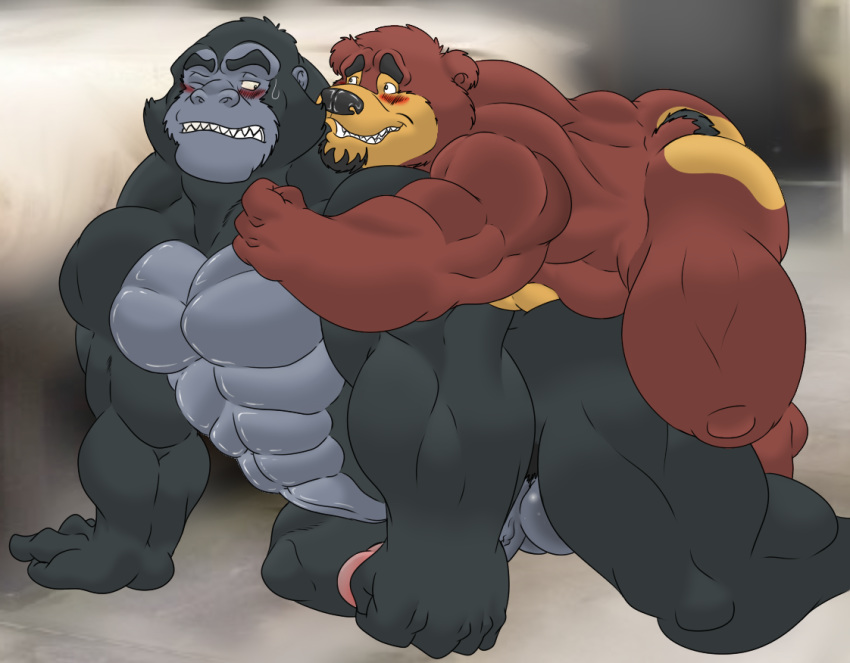 Gorilla sex in cartoon