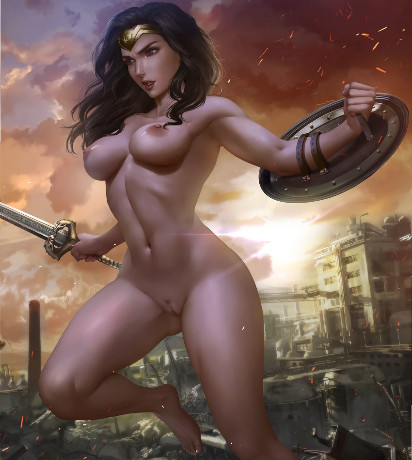 Naked wonder woman