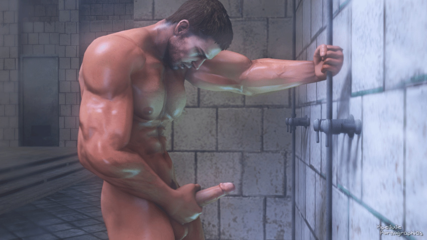 Male Shower Masturbation