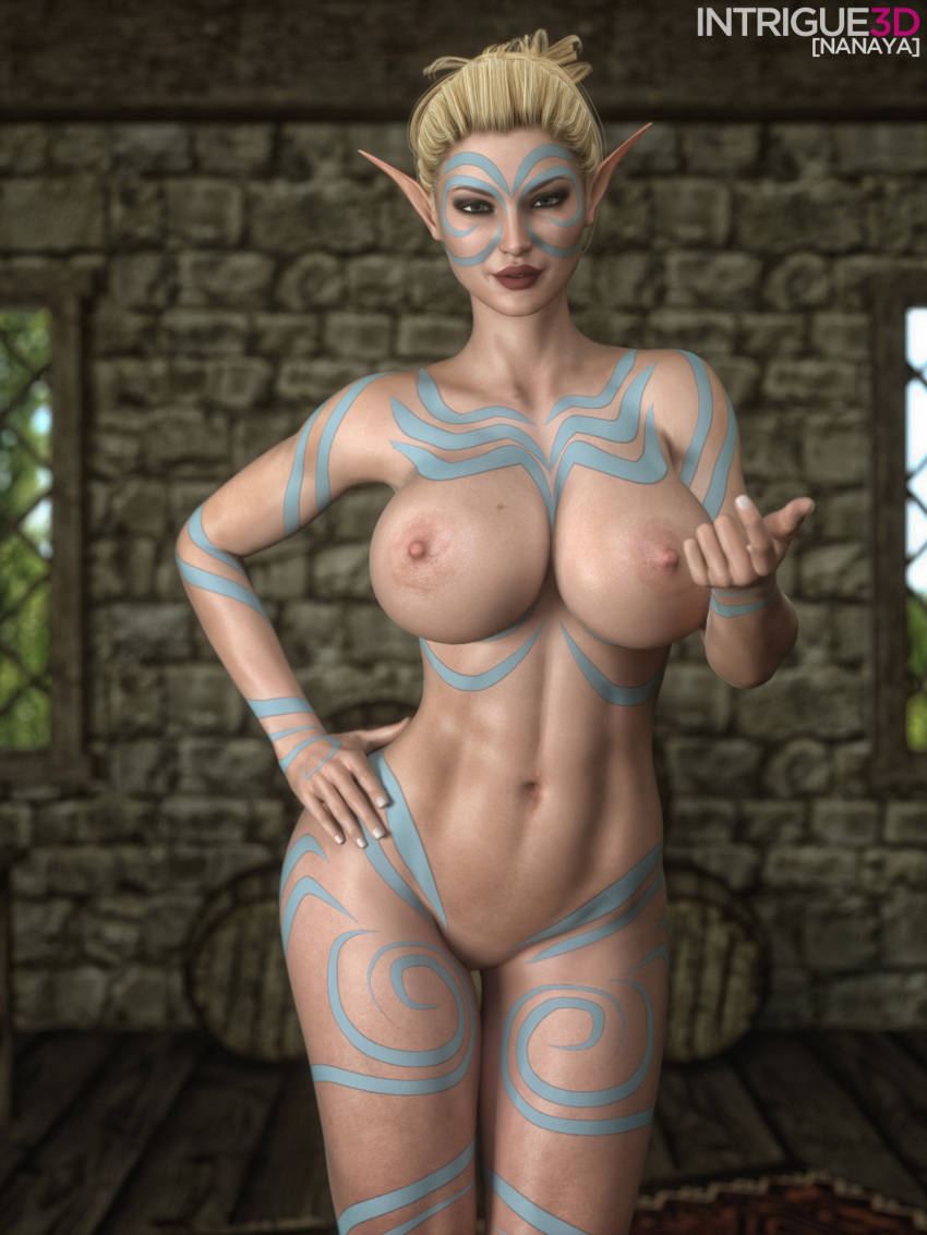 Rule 34 - 3d areolae big breasts breasts elf female female only