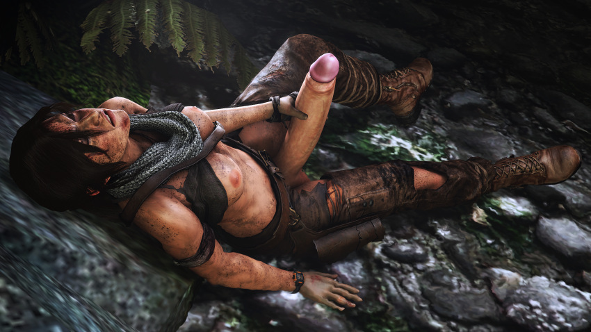 1girl 3d areolae breasts erection futa_only futanari giallo1972 huge_cock lara_croft masturbation penis solo source_filmmaker tomb_raider tomb_raider_reboot