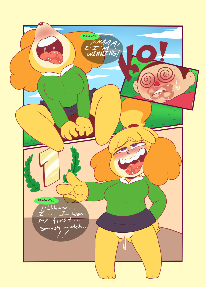 Animal Crossing Villager And Isabelle Day Off Porn Comic rule 34 - animal crossing anthro ass visible through thighs