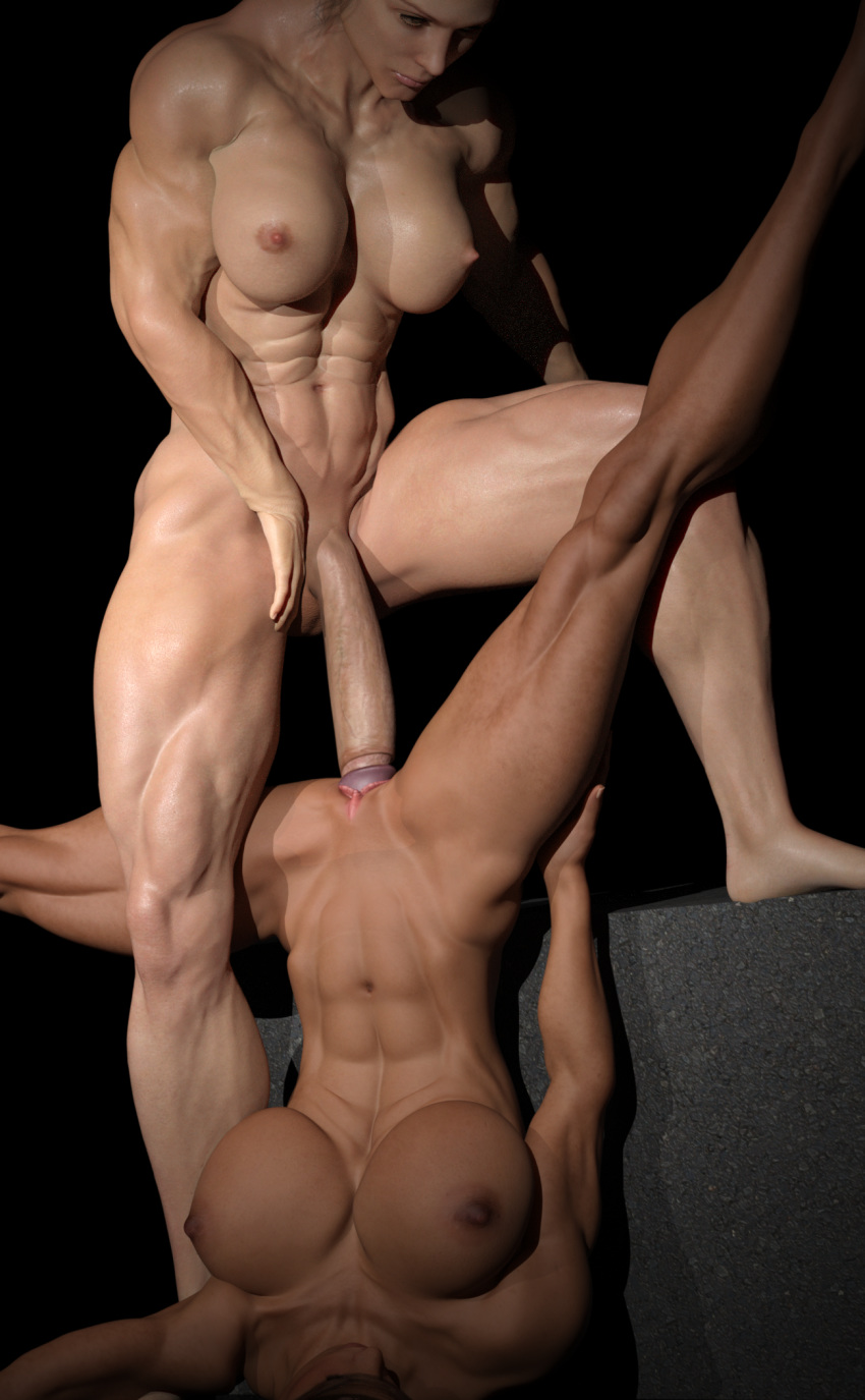 3D Muscle Sex rule 34 - 1futa 3d abs areolae big breasts breasts