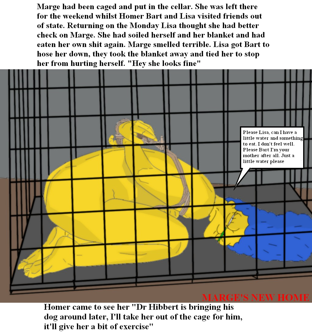 Rule 34 - ass blue hair bound cage color english text