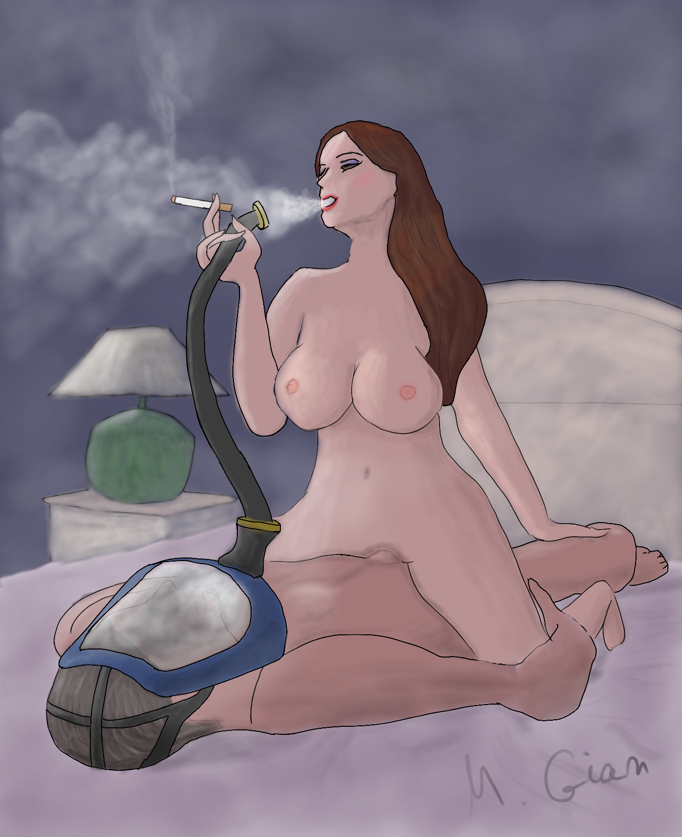Rule 34 - Breasts Cigarette Cowgirl Position Domination -7152