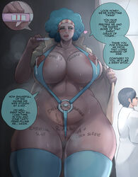 1boy 1girl afro aqua_hair areolae blue_eyes blush blushing body_writing breasts cameltoe chubby cuckold dark-skinned_female dark_skin dat_ass donaught dripping fat_ass female gigantic_ass gigantic_breasts green_hair headband heart-shaped_pupils horny huge_ass huge_breasts in_heat jacket labia lactation large_ass large_breasts lenora licking licking_lips male markings milf netorare nintendo nippleless_clothing nipples plump plump_labia pokemon pokemon_bw pregnancy_test pregnant presenting presenting_breasts presenting_pussy pussy ring sling_bikini smell speech_bubble standing steam steamy submissive sweat sweating sweaty thick thick_thighs thighhighs wide_hips rating:Explicit score:269 user:chooped