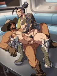 2boys anal anal_sex animated balls circumcised color erection gay hanzo male male_only male_penetrating mccree open_mouth overwatch penis pubic_hair receiving_on_top riding sex tagme tattoo testicles uncensored veiny_penis webm yaoi rating:Explicit score:31 user:Sexyshadowman