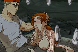 craig_boone fallout fallout_new_vegas orange_hair rose_of_sharon_cassidy zet13  rating:explicit score:134 user:bot