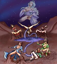 7girls anal anal_insertion areola avatar_the_last_airbender azula breasts cunnilingus dark_skin earthbending erect_nipples female female_only fingering human katara mai_(avatar) masturbation multiple_females nipples oral pussy senseixxx suki tentacle tentacle_rape tongue tongue_out toph_bei_fong ty_lee water_tentacle waterbending yue yuri