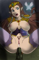 1boy anal artist_name blue_eyes breasts brown_hair colorized coloured cowgirl_position cum cum_in_pussy cum_inside depthsofmind earrings edit female ganondorf green_skin hair_tubes jewelry large_breasts leaning_back long_hair looking_at_viewer male navi necklace nipples no_bra open_mouth penis pointy_ears princess_zelda pubic_hair pussy raysama ruben_yepez sex signature spread_legs straddle straight testicles the_legend_of_zelda thighhighs tiara triforce twilight_princess very_long_hair