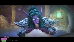 1girl 3d animated clothed clothes clothing darnassus fellatio female kalimdor lying penis sound tagme teldrassil tyrande_whisperwind warcraft webm world_of_warcraft