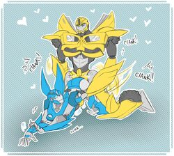 arcee biting_lip bumblebee doggy_style mech penetration robot transformers