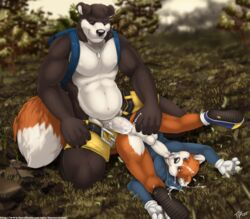 2013 5_fingers anal anal_sex anthro anus ass autofellatio backpack balls banjo-kazooie banjo_(banjo-kazooie) bear belt black_nose blue_eyes brown_fur chubby clothed clothes color conker conker's_bad_fur_day crossover cum cum_in_ass cum_inside cum_on_face cum_on_floor cum_on_penis day erection fellatio footwear fur furryratchet gay gloves grass half-dressed happy high_resolution licking looking_down lying male male_only masturbation navel no_humans on_back oral orange_fur orgasm outdoors pecs penetration penis pink_penis plant rock rodent sex shoes shorts sitting sky smile squirrel sweater tongue tongue_out tree uncut vein white_eyes white_fur white_penis wood yaoi