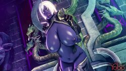 3d ahe_gao animated areolae arms_behind_back bbc bouncing_breasts breasts cleavage clothes colonelyobo cross-eyed dark-skinned_male dark_elf dark_skin detailed_background drow duo earrings elf faceless_male female from_behind fucked_silly hoop_earrings huge_breasts human humanoid interracial interspecies long_ears male navel nipples no_sound nude pointy_ears puffy_nipples purple_skin queen_nualia sex short_hair shoulder_grab source_filmmaker standing standing_sex straight tongue tongue_out vaginal_penetration webm white_hair yellow_eyes