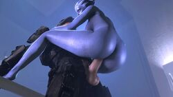 3d alien alien_girl animated armor asari balls big_penis blue_skin bouncing_ass bouncing_breasts breasts crossover dat_ass duo female halo_(series) helmet huge_ass human interspecies large_breasts liara_t'soni male mass_effect master_chief no_sound noname55 penis sex shoulder_grab sideboob source_filmmaker spartan straight vaginal_penetration webm