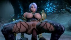 1monster 3d anal anal_penetration anal_sex animated big_breasts bouncing_breasts breasts cowgirl_position deep_penetration interspecies isabella_valentine looking_at_viewer male_pov moaning monster noname55 pov pussy soul_calibur sound stomach_bulge webm
