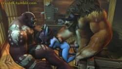 3d animated blood_elf breasts double_penetration fellatio female from_behind head_grab heroes_of_the_storm horsecock interspecies large_breasts large_penis monster oral orc penis rrostek size_difference sound source_filmmaker spitroast sylvanas_windrunner tauren threesome torso_grab warcraft webm world_of_warcraft