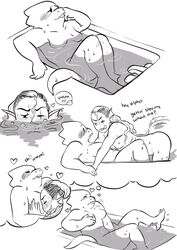 alphys anthro bath bathing blush breast_grab breasts buckteeth comic dialogue duo female female/female finger_fuck fingering fish hand_on_breast heart humanoid imagination marine masturbation mister13eyond partially_submerged reptile scalie slightly_chubby teeth text thought_bubble undertale undyne vaginal_masturbation vaginal_penetration video_games water webbed_hands wet yuri