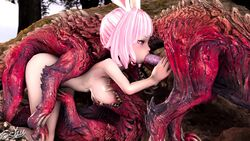 1girls 3boys 3d animal_genitalia animated areolae big_breasts breasts cum cum_in_mouth cum_in_pussy cum_inside elin erection eshu-chan fellatio from_behind handjob knot large_breasts monster monster_hunter monster_hunter_world nipples no_sound nude odogaron oral penis sex source_filmmaker tera_online webm zoophilia