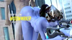 1boy 1girl 3d animated areolae ass bent_over blizzard_entertainment bouncing_breasts breasts bubble_butt daz_studio from_behind fuckhead jiggle nipples no_sound nude overwatch patreon_username sex straight tumblr_username webm widowmaker
