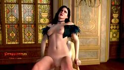 1boy 1girls 3d animated areolae blender breasts erection female male nipples no_sound nude penetration penis pewposterous pussy reverse_cowgirl_position straight the_witcher the_witcher_3:_wild_hunt vaginal_penetration webm yennefer