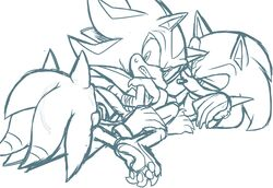 anal bound gay male rape scourge_the_hedgehog shadow_the_hedgehog skyeprower sonic_(series) terios_the_hedgehog three_way