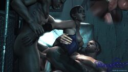 3d albert_wesker anal_sex animated beowulf1117 chris_redfield excella_gionne interracial mmf nude partially_clothed resident_evil resident_evil_5 servantesnc sheva_alomar sound tagme threesome vaginal_penetration voyeur watching webm