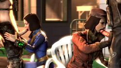 2boys 2girls 3d animated clothed dude017 erection fallout fallout_4 fellatio female human male no_sound nora_(fallout_4) oral penis piper_wright source_filmmaker straight tagme webm
