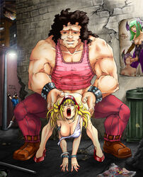 ahe_gao alley back_alley bent_over biceps blonde_hair choker chun-li clothed_sex curly_hair dubious_consent edit endured_face exposed_breast fatal_fury fellatio femsub final_fight futa_on_female futanari garbage gasp giant handcuffs hanging_breasts heels hugo_andore incest king_of_fighters larger_male lilith_aensland lipstick male maledom mascara morrigan_aensland muscles muscular_male oral poster public red_lipstick rule_63 size_difference smaller_female snk snk_heroines:_tag_team_frenzy spiked_bracelet standing standing_sex street_fighter submissive succubus taken_from_behind terry_bogard trash trash_can voyeur wince