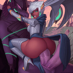 anal anal_grip anal_penetration anal_sex armor ass balls big_butt big_penis bottomless clenched_teeth clothed clothing cowgirl_position crouch demimond23 diphallia diphallism double_penis dragon dual_penis duo endured_face erection female female_on_feral feral futa_on_female futanari hemipenes huge_cock huge_penetration human human_on_feral imminent_penetration interspecies karma karma_(league_of_legends) kneeling large_insertion larger_male league_of_legends loincloth loincloth_aside long_loincloth male mammal mechanical_wings monster_cock multi_penis open_mouth penetration penis penis_under_clothes riot_games sex sheath short_hair shyvana silver_hair sitting_on_lap sitting_on_penis size_difference squatting straight stretched_anus thick_penis thigh_highs thighhighs tight_fit tiptoes vein veiny_penis video_games white_hair zoophilia