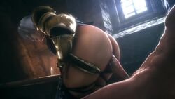 1boy 1girl 3d abs animated armor ass female from_behind human isabella_valentine lipstick male moaning noname55 penis sex short_hair slapping soul_calibur sound source_filmmaker straight webm