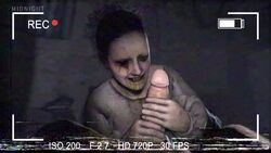 1boy 1girl 2017 3d animated camera camera_view clothed_female_nude_male clothes clothing erection female ghost hair hand handjob hands human indoors interspecies lisa lisa_(p.t) male midnightsfm nightmare_fuel no_sound nose pale-skinned_female pale_skin penis penis_grab silent_hill source_filmmaker straight teeth webm