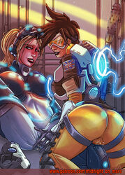 blizzard_entertainment crossover duo female female_only fingering fondling heroes_of_the_storm midnightonmars nova_(starcraft) overwatch patreon_username pussy_juice starcraft straight tracer wet yuri