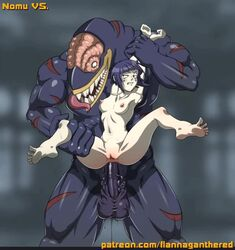 1boy 1girl 2d anal anal_insertion animated anus arm_grab ass barefoot big_balls big_penis black_skin bouncing_breasts breasts bulge deep_penetration feet female flannaganthered huge_cock huge_penis huge_testicles interspecies kyoka_jiro monster monster_cock muscles muscular_male my_hero_academia nipples no_sound nomu nude penis purple_hair pussy size_difference small_breasts smaller_female spread spread_legs stomach_bulge testicles text thick_penis thick_thighs tongue tongue_out veins veiny_penis veiny_testicles webm wet