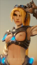 3d adapted_costume blender blizzard_entertainment breasts female_only nipples nova_widowmaker overwatch solo tumblr_username widowmaker