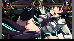 2d animated bouncing_breasts defeat filia_(skullgirls) game pixel_art skullgirls sound tagme tentacles webm zone