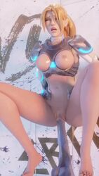 3d alternate_costume animated areolae barefoot blender blizzard_entertainment blonde_hair bouncing_breasts breasts dildo feet female female_only masturbation medial_ring nipples no_sound nova_widowmaker overwatch solo spread_legs webm widowmaker wunderdash
