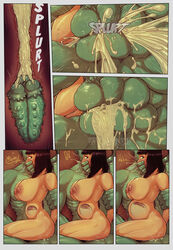 1girls 3monsters abs all_the_way_through anal anal_sex anthro balls balls_touching big_dom_small_sub breasts comic cum cum_in_ass cum_in_mouth cum_inflation cum_inside devil_hs dialogue english_text facial_piercing female female_on_anthro forced fucked_silly gangbang green_balls green_penis group group_sex human human_on_anthro inflation internal interspecies legend_of_queen_opala male maledom mammal multiple_insertions muscular muscular_male nose_piercing nude osira penetration penis perineum piercing rape scalie sex size_difference straight swegabe text tongue tongue_out triple_anal triple_penetration