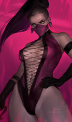 absurdres breasts cleavage female female_only highres lerapi looking_at_viewer mileena mortal_kombat solo
