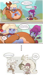 2018 claws clothing comic dragon dragon_trainer_tristana egg erection eyewear feet female female_on_feral feral goggles hair horn humanoid impregnation interspecies junyois league_of_legends male mammal open_mouth penetration poppy pussy riggle riot_games sex short_stack straight text tristana vaginal_penetration video_games wide_hips yordle zoophilia