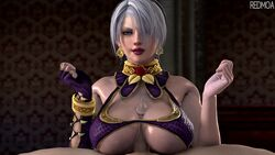 3d animated big_breasts breasts cleavage erection female isabella_valentine large_breasts looking_at_viewer male no_sound paizuri penis pov redmoa soul_calibur source_filmmaker straight webm